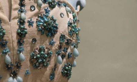 Embellishment on Norman Hartnell gown