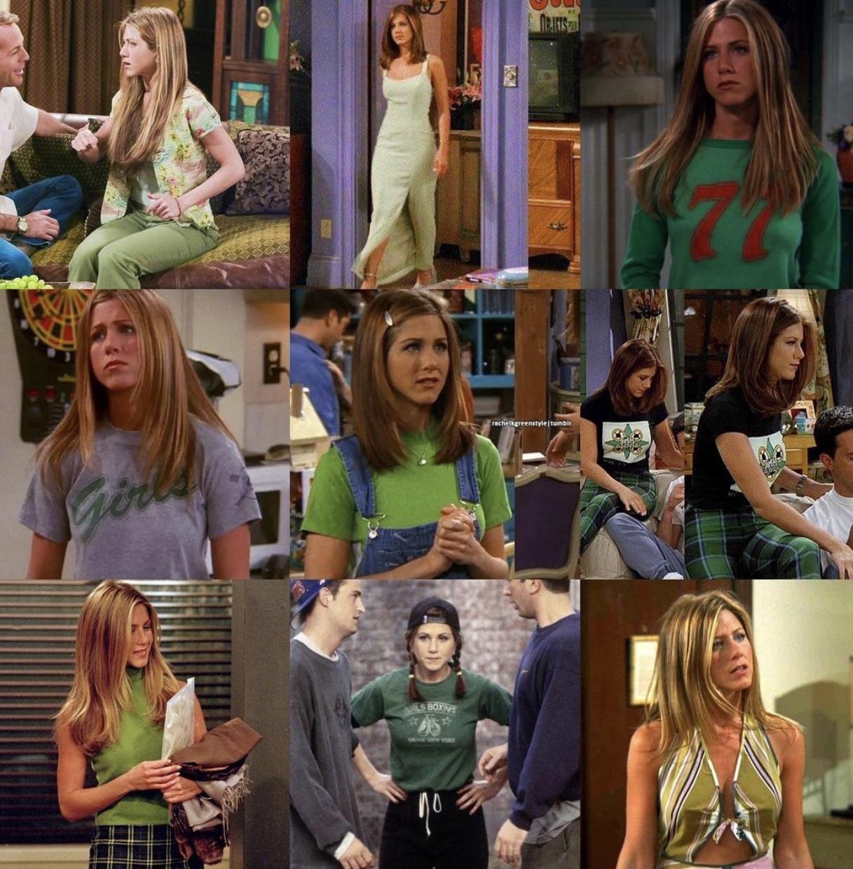 Rachel Green's most iconic green looks