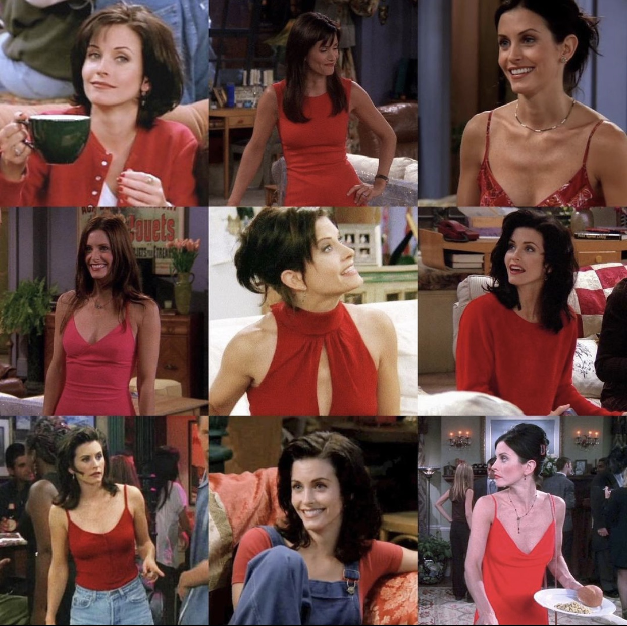 Monica Geller's most iconic red look