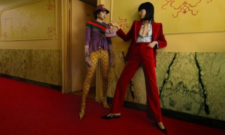 Models wearing Gucci Aria Collection